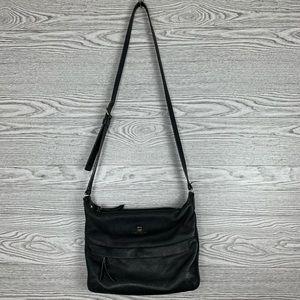 Vintage Kate Spade Black Leather Crossbody Bag